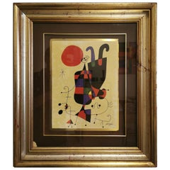 Midcentury painting Figure capovolte by Joan Mirò, 1960s
