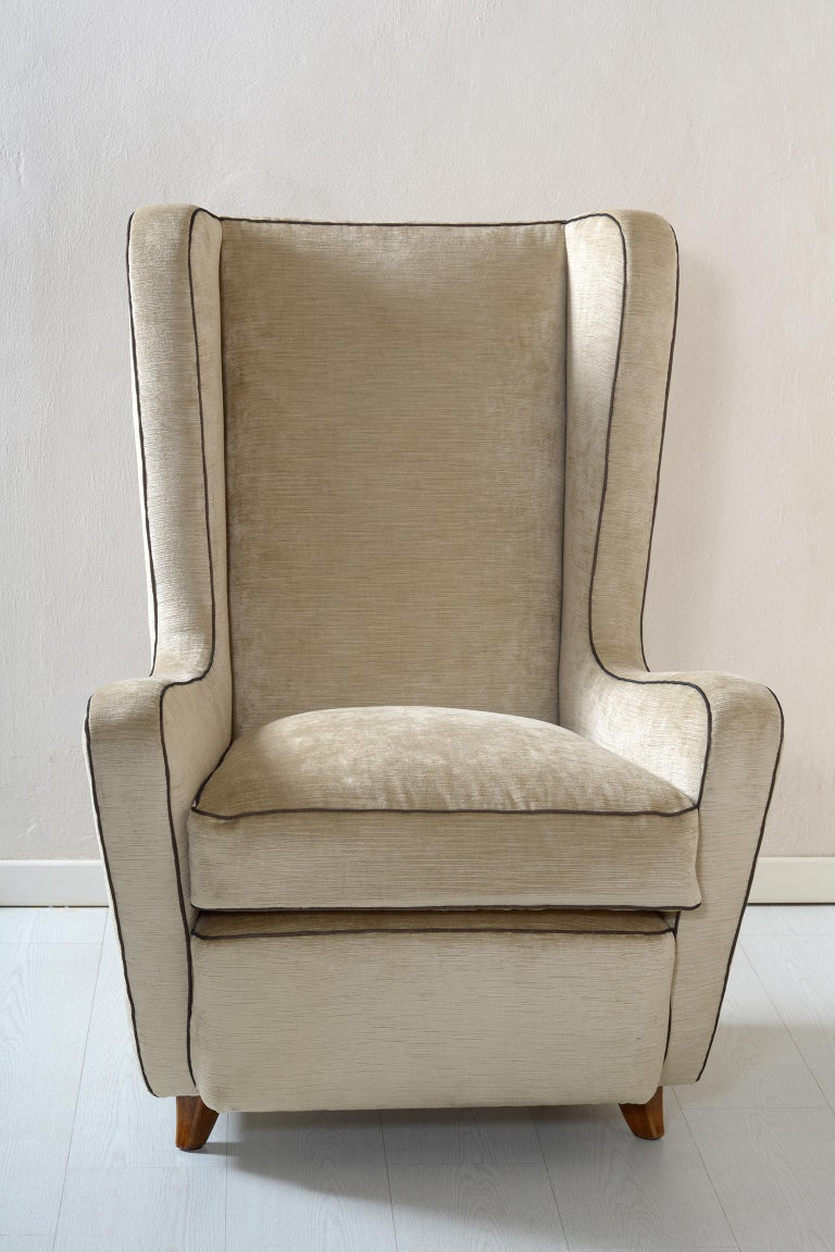 Midcentury Pair of Armchairs by Arch, Gamberini Florence For Sale 3