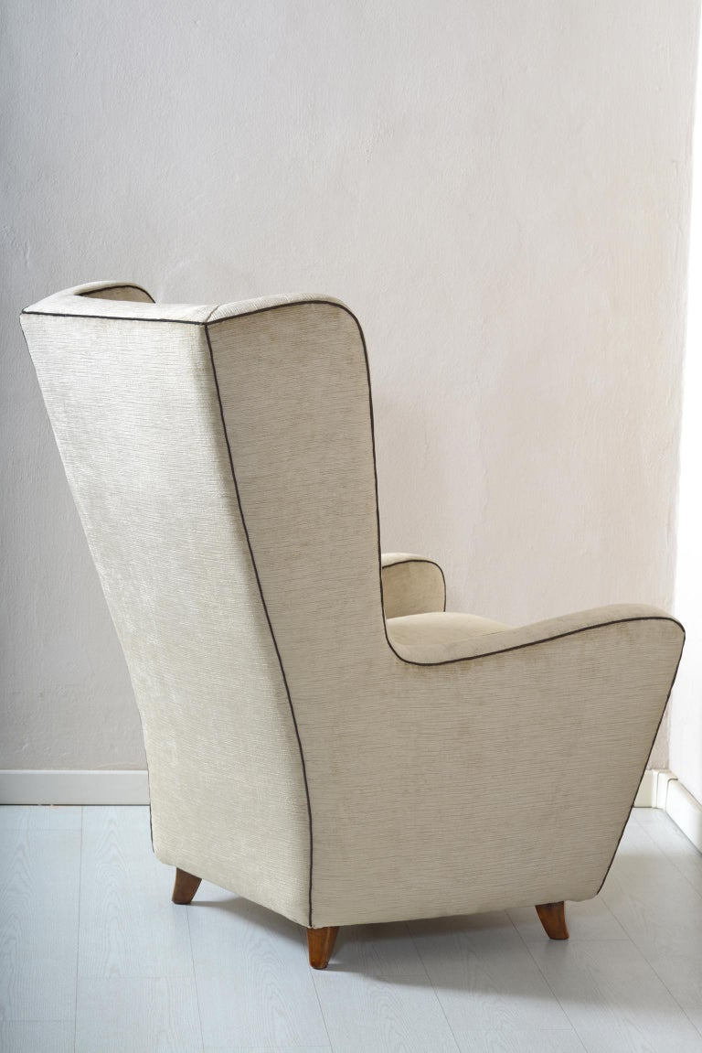 Mid-20th Century Midcentury Pair of Armchairs by Arch, Gamberini Florence For Sale