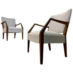 Mid Century Pair of Danish Armchairs by Peter Hvidt and Orla Molgaard-Nielsen