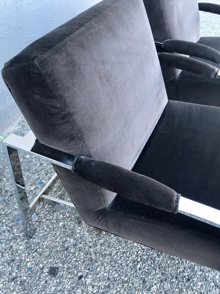 Midcentury Pair of Lounge Chairs and Cocktail Table For Sale 6