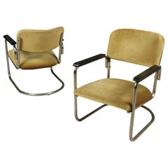 Midcentury Pair of Lounge Chairs, Netherlands, 1940s