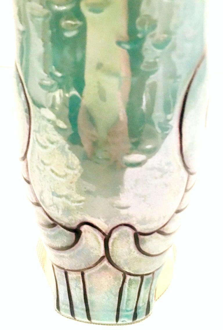 Midcentury Pair of Porcelain Japanese Luster Ware
