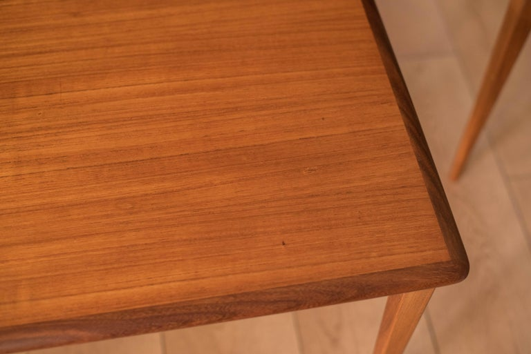 Mid Century Pair of Teak End Tables For Sale 5