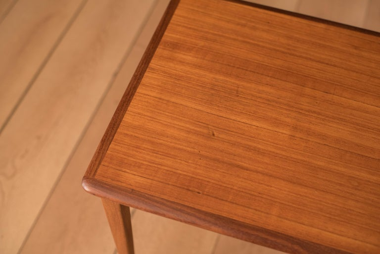 Mid Century Pair of Teak End Tables For Sale 6