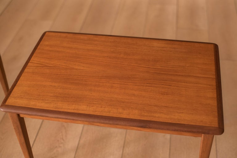 Mid-20th Century Mid Century Pair of Teak End Tables For Sale