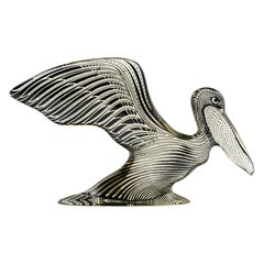 Mid Century Palatnik Op Art Lucite Pelican Sculpture