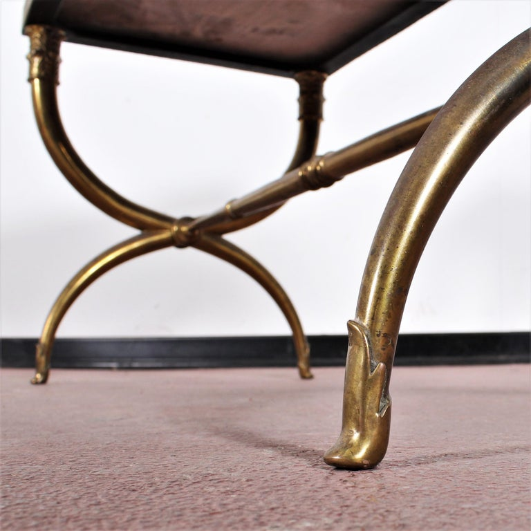 Midcentury Paolo Buffa Marble and Brass Coffee Table, 1950s, Italy For Sale 10