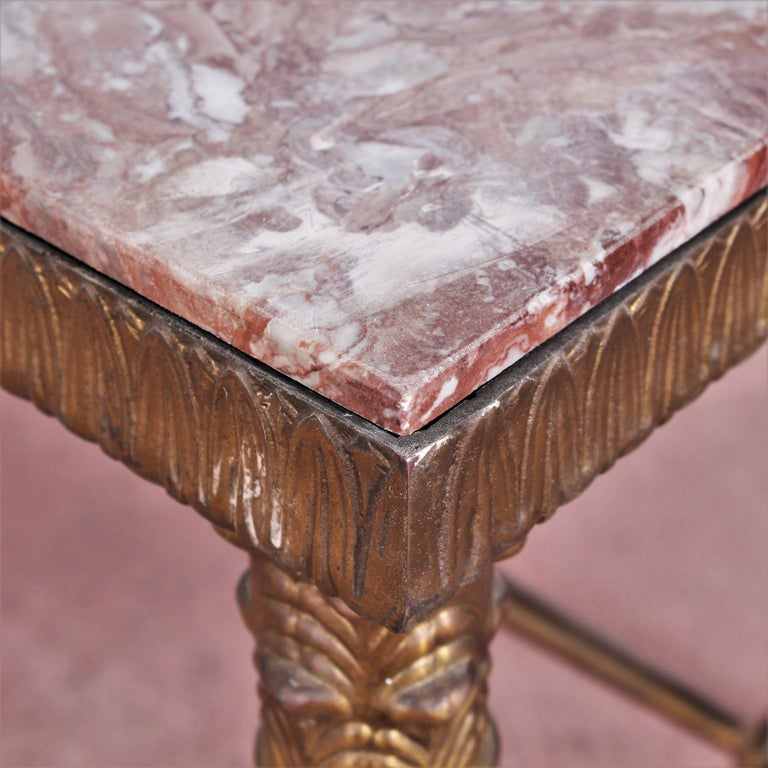 Midcentury Paolo Buffa Marble and Brass Coffee Table, 1950s, Italy For Sale 11