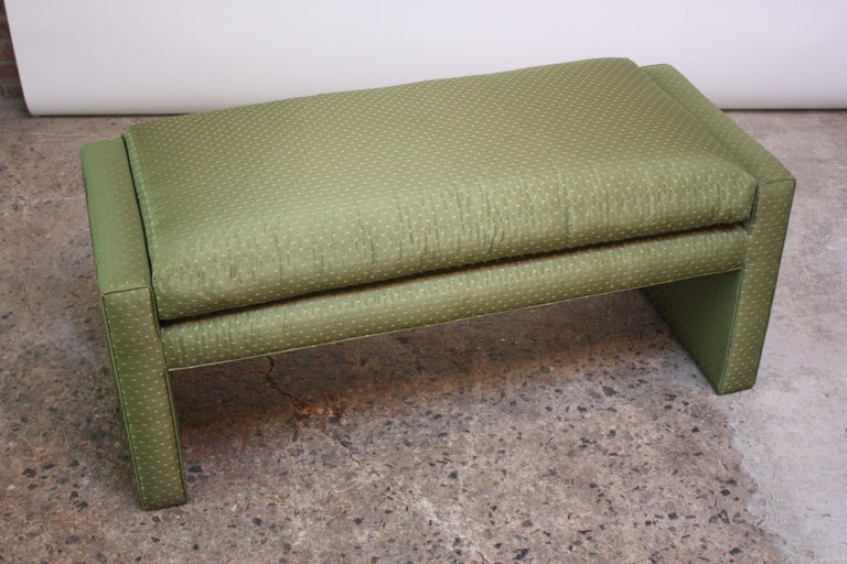 American Mid-Century Parsons Bench by Milo Baughman For Sale