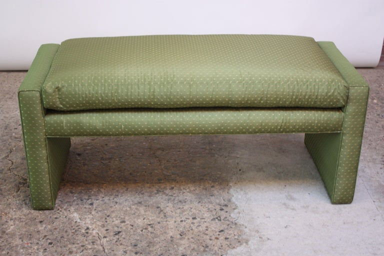 Mid-Century Parsons Bench by Milo Baughman In Good Condition For Sale In Brooklyn, NY