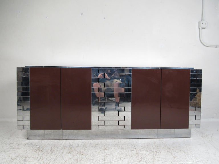 North American Midcentury Paul Evans Brutalist Sideboard for Directional For Sale