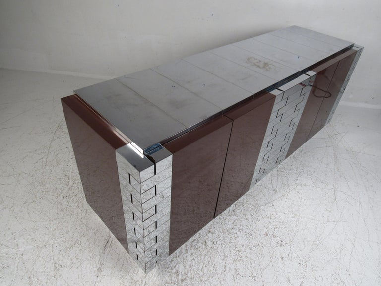 Midcentury Paul Evans Brutalist Sideboard for Directional In Good Condition For Sale In Brooklyn, NY