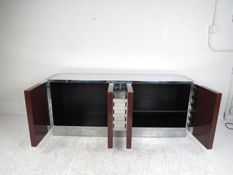 Late 20th Century Midcentury Paul Evans Brutalist Sideboard for Directional For Sale