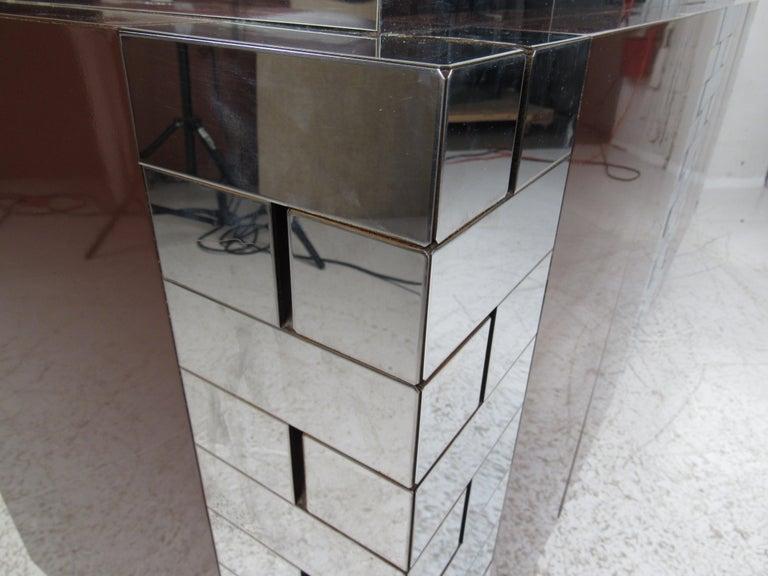 Chrome Midcentury Paul Evans Brutalist Sideboard for Directional For Sale