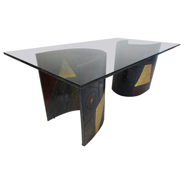 Midcentury Paul Evans PE24 Pedestal Dining Table for Directional For Sale