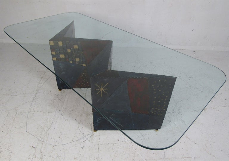 Mid-20th Century Midcentury Paul Evans Zig-Zag Welded Coffee Table For Sale