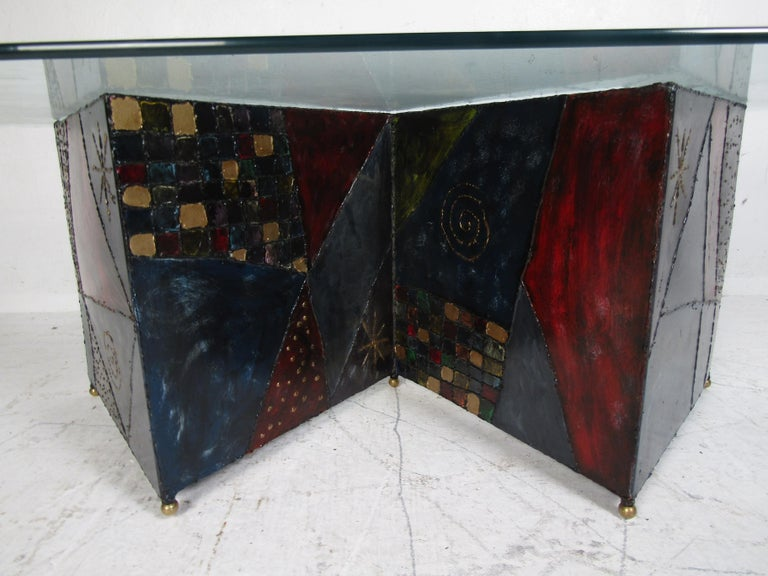 Midcentury Paul Evans Zig-Zag Welded Coffee Table For Sale 2