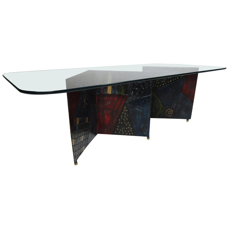 Midcentury Paul Evans Zig-Zag Welded Coffee Table For Sale