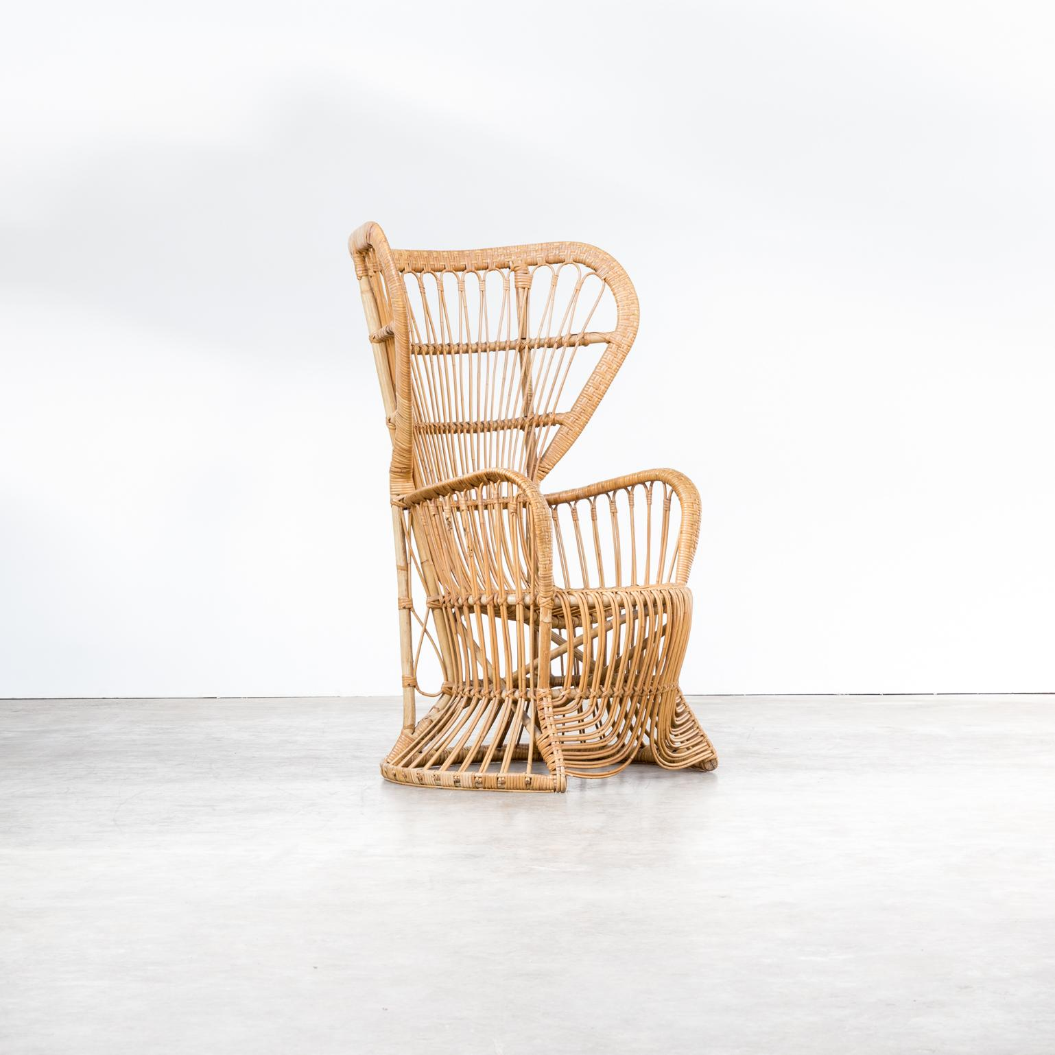 Egg Chair Riet.Midcentury Peacock Chair Rattan For Rohe Noordwolde For Sale At