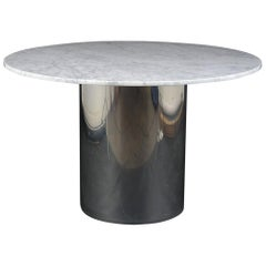 Mid Century Round Marble Dining Table