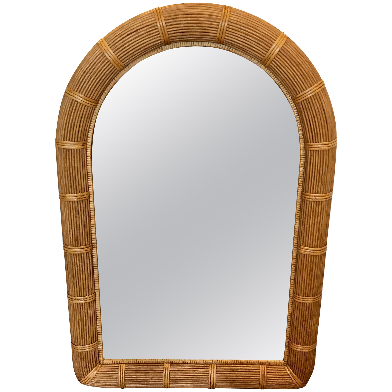 Midcentury Pencil Reed Mirror