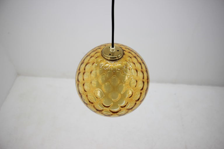 Glass Midcentury Pendant, 1960s For Sale