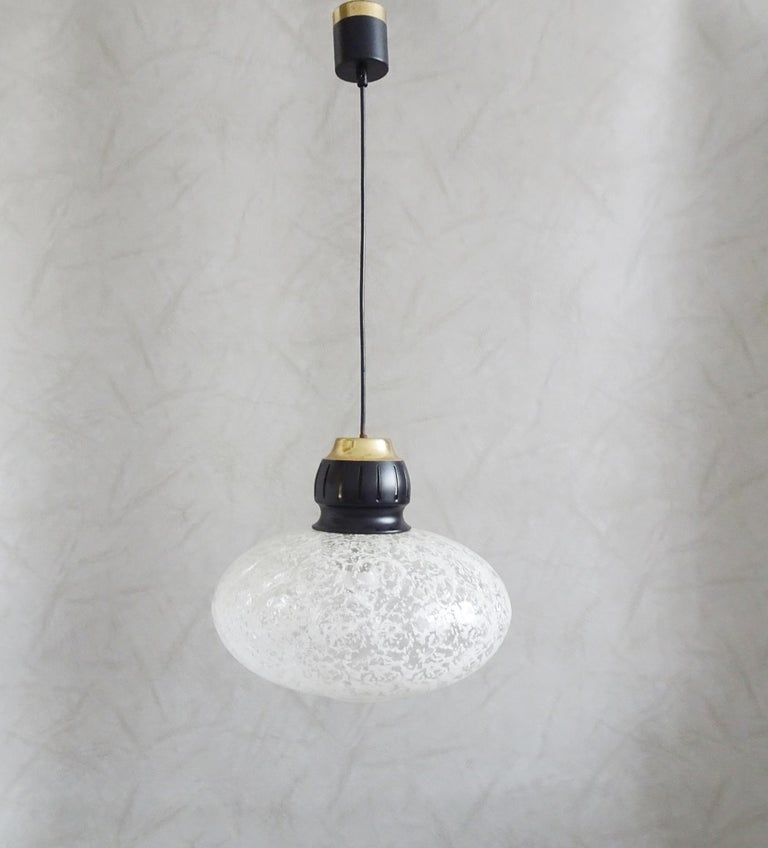 Midcentury Pendant by Doria, Germany, 1960s For Sale 4