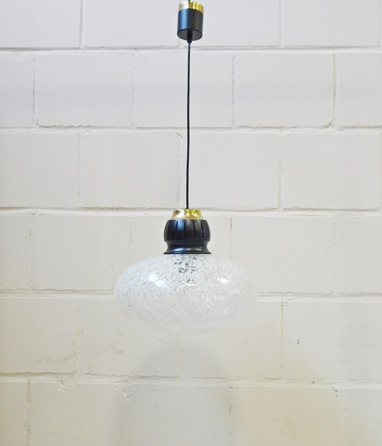 Midcentury Pendant by Doria, Germany, 1960s For Sale 3