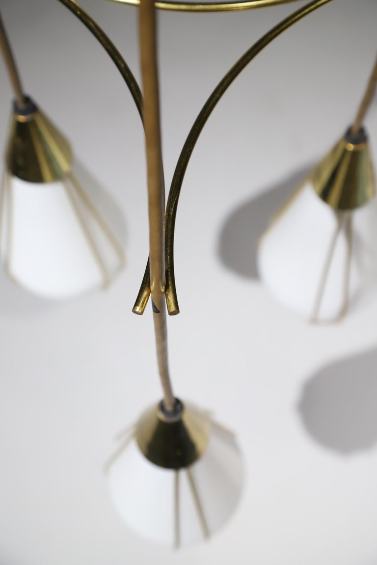 Midcentury Pendant Chandelier By Moe Light For Sale At 1stdibs