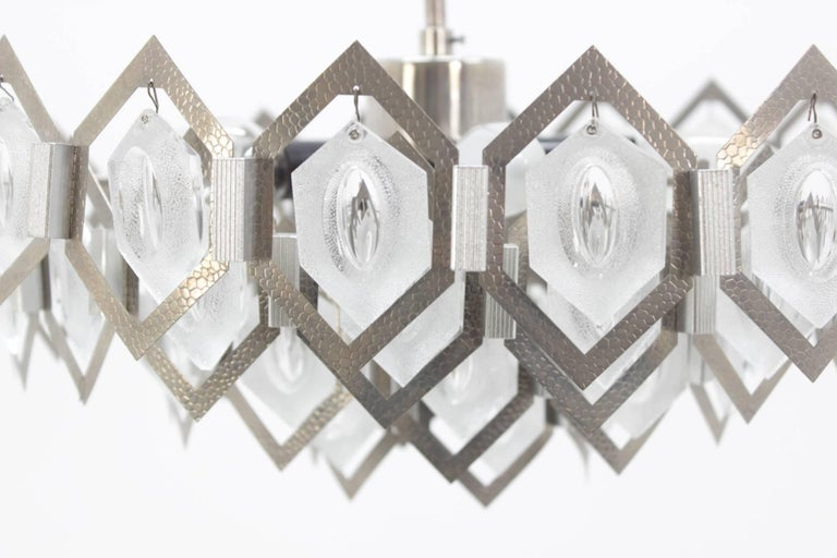 Late 20th Century Midcentury Pendant Chandelier Kamenický Šenov Designed by Jaroslav Bejvl, 1970s  For Sale