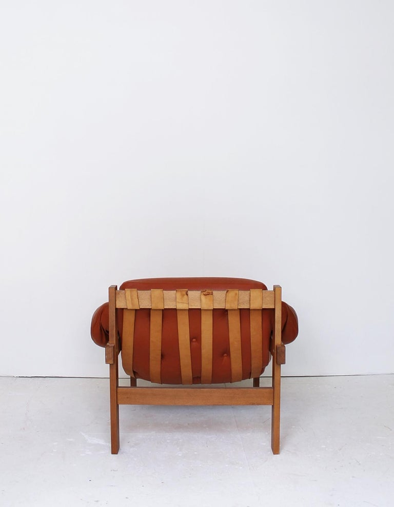 Midcentury Percival Lafer Style Cognac Tufted Leather Armchairs, 1970s In Good Condition For Sale In Debrecen-Pallag, HU