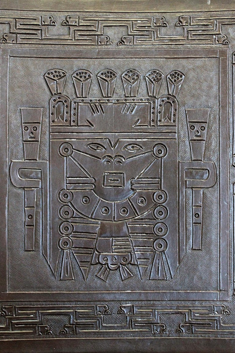 Midcentury Peruvian Tooled Leather Folding Chair, 1970 For Sale 4