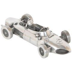 Midcentury Pewter Model of a Ferrari