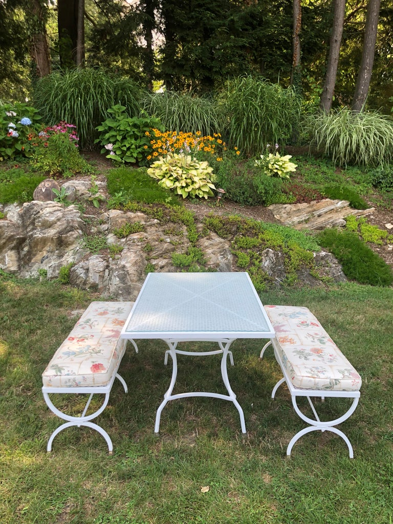Mid Century Picnic Style Table And Benches For Sale At 1stdibs