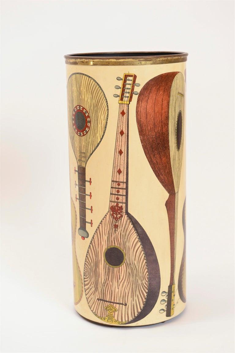 Midcentury Piero Fornasetti 'Instrumenti' Vintage Umbrella Stand, circa 1955 For Sale 2