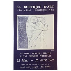 Midcentury Pierre-Yves Tremois Art Exhibition Poster