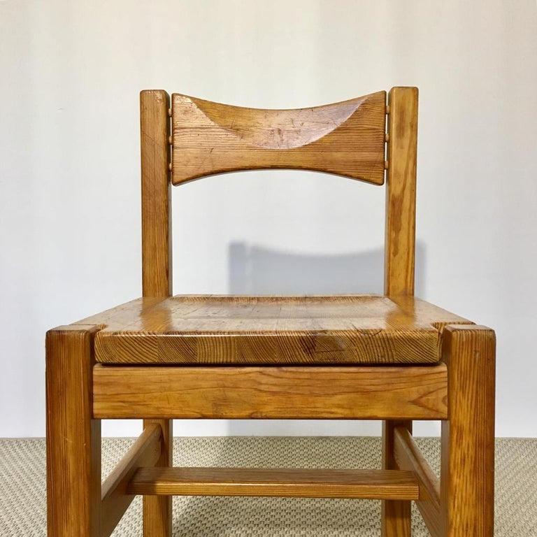 Midcentury Pine Chair by Ilmari Tapiovaara for Laukaan Puu Oy, Finland, 1960s For Sale 4