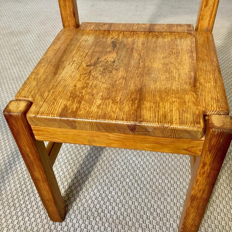Midcentury Pine Chair by Ilmari Tapiovaara for Laukaan Puu Oy, Finland, 1960s For Sale 8