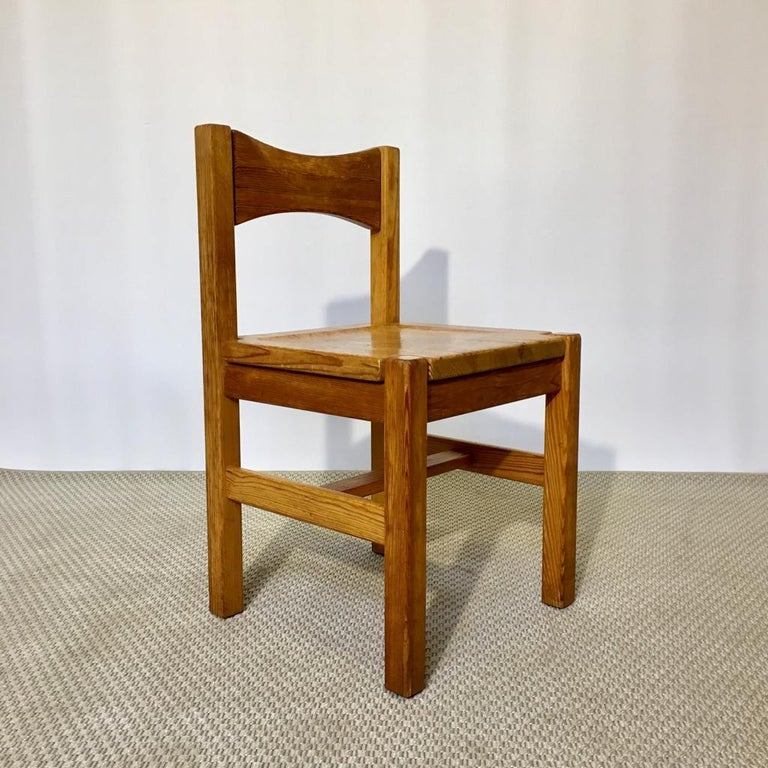 Rustic Midcentury Pine Chair by Ilmari Tapiovaara for Laukaan Puu Oy, Finland, 1960s For Sale