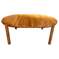 Mid-Century Pine Dining Table by Rainer Daumiller
