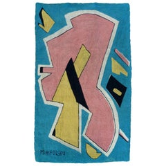Midcentury Playful Abstract Tapestry by Miripolsky