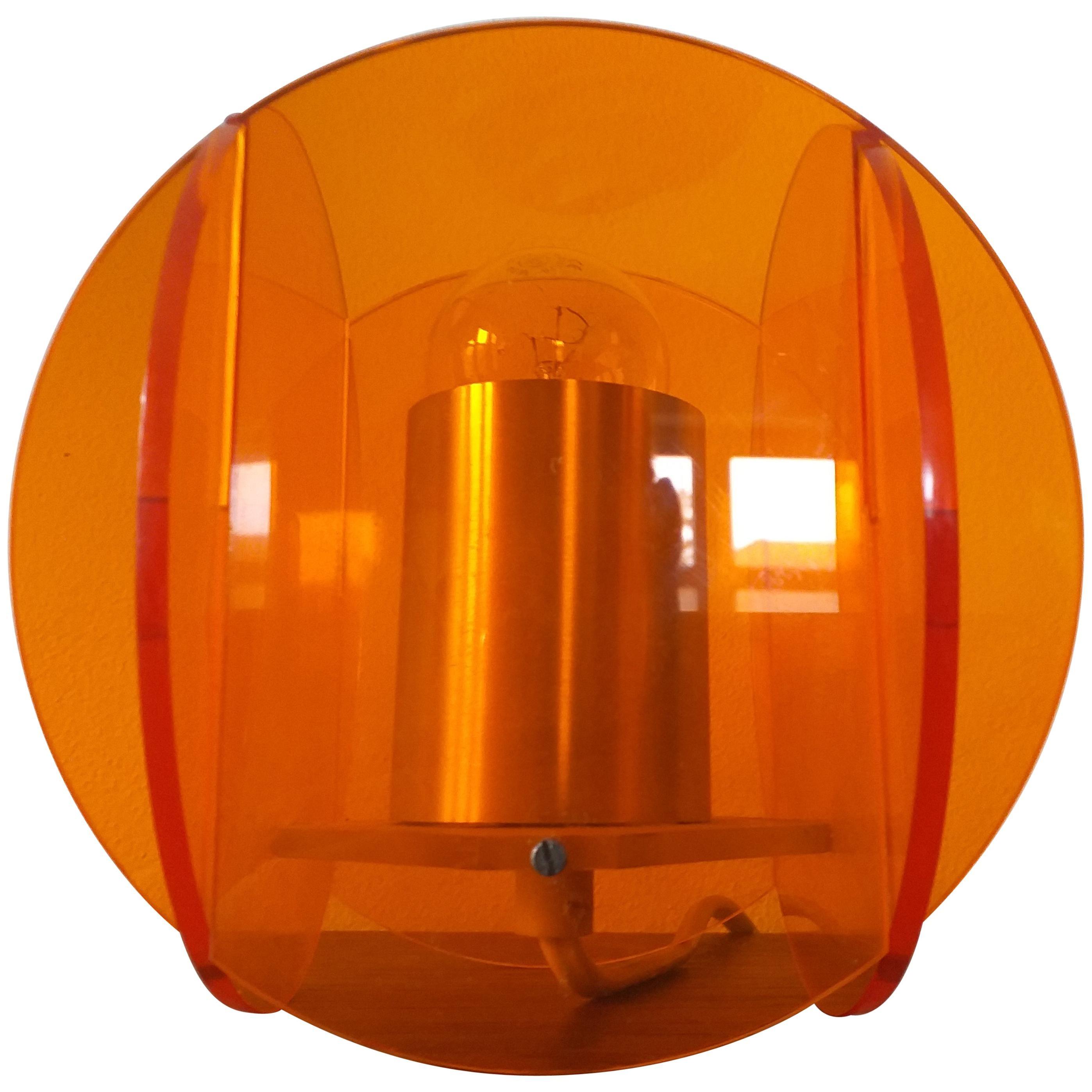 Midcentury Plexiglass Table Lamp, 1970s