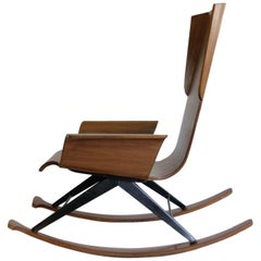 Mid-century Plywood Rocking Chair, 1960's