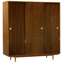 Midcentury Polished Ash Wardrobe