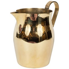 Midcentury Polished Brass Pitcher by Tommi Parzinger for Dorlyn Silversmiths