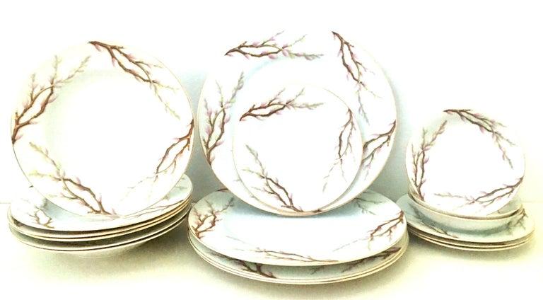 Mid-Century Japanese dinnerware set of 17 pieces,