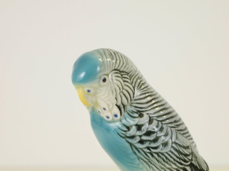 Midcentury Porcelain Figurine Depicting a Parrot by Porzellanfabrik Karl Ens For Sale 8