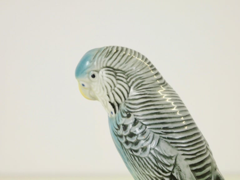 Midcentury Porcelain Figurine Depicting a Parrot by Porzellanfabrik Karl Ens For Sale 9
