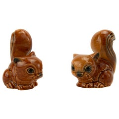 Midcentury Porcelain Squirrels Figures from Goebel, Germany, 1970